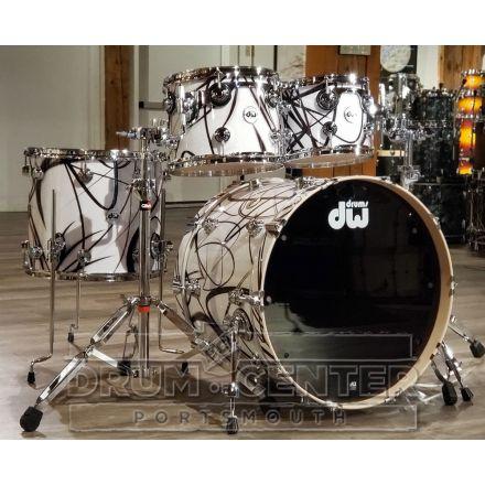 DW Collectors Maple 4pc Drum Set White Glass Contrails