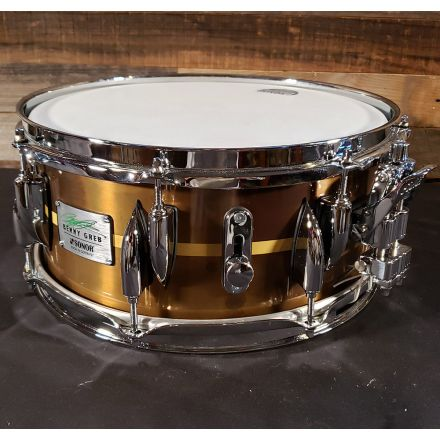 Used Sonor Benny Greb Signature New Brass Snare Drum 13x5.75 - Like New!