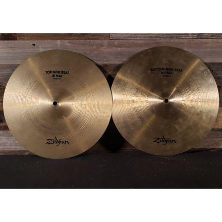 Used Zildjian New Beat Hi Hat Cymbals 14