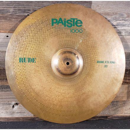 Used Paiste 1000 Rude Ride/Crash Cymbal 20