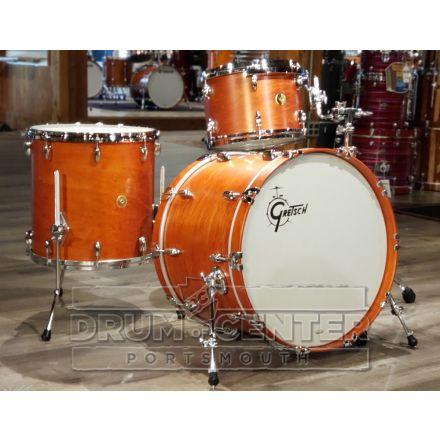Gretsch USA Custom 3pc Drum Set 22/13/16 Satin Burnt Orange