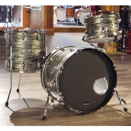 Used Gretsch Brooklyn 3pc Downbeat Drum Set Grey Oyster