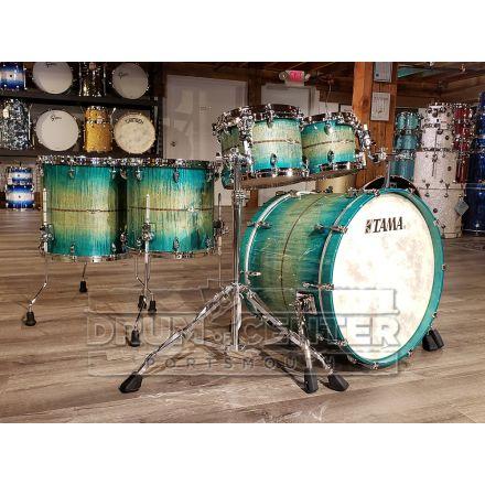 Tama Star Maple 5pc Drum Set - Emerald Sea Curly Maple Burst - 22/10/12/14/16