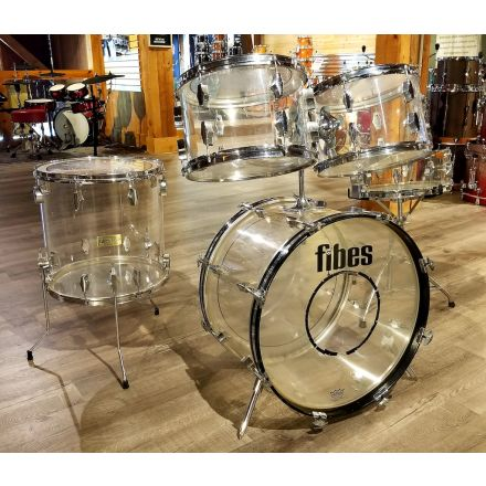 """Vintage Fibes """"Crystalite"""" Acrylic Drum Set from the 70's"""