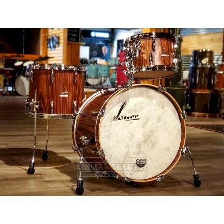Sonor Vintage 3pc Drum Set w/Tom Arm - Rosewood Semi Gloss