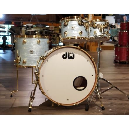 Used DW Collectors Series Maple Mahogany 4pc Drum Set Pale Blue Oyster w/ Gold HW