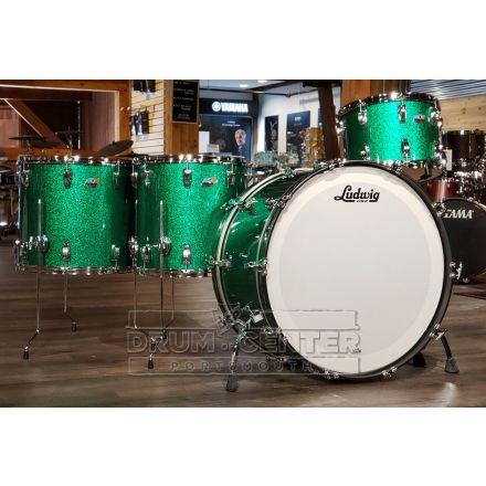 Ludwig Legacy Mahogany 4pc Bonham Drum Set - Green Sparkle