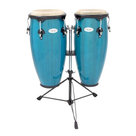 Toca Synergy Series Wood Conga Set with Stand