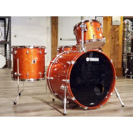 Used Yamaha Oak Custom Five-Star 4pc Drum Set Orange Sparkle