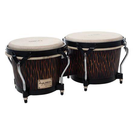 Tycoon Percussion 7 & 8 1/2 Supremo Select Series Bongos - Chiseled Orange Finish