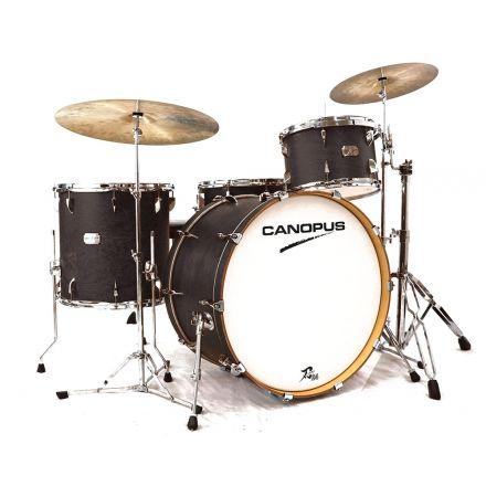 Canopus Yaiba 24 3pc Drum Set - Antique Ebony Matte Lacquer - 24/13/16