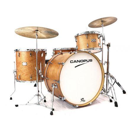 Canopus Yaiba 24 3pc Drum Set - Antique Natural Matte Lacquer - 24/13/16