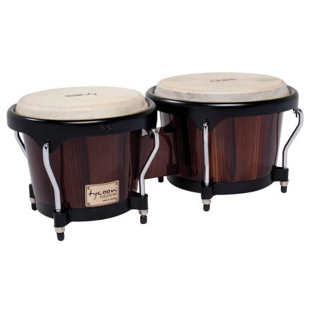 Tycoon Percussion 7 & 8 1/2 Artist Series Hand Painted Bongos - Brown Finish