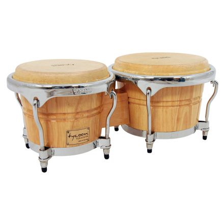 Tycoon Percussion 7 & 8 1/2 Concerto Series Bongos - Natural Finish