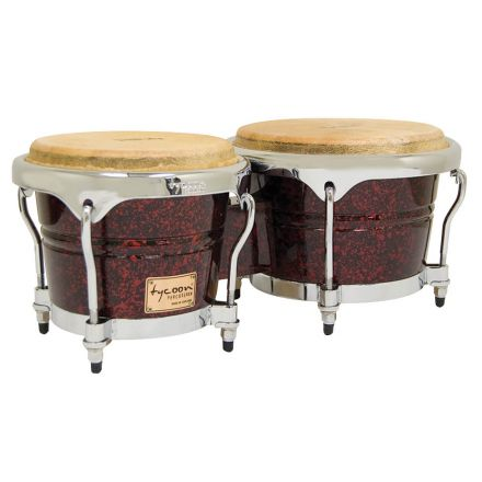 Tycoon Percussion 7 & 8 1/2 Concerto Series Bongos - Red Pearl Finish