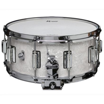 Rogers Dyna-sonic Wood Shell Snare Drum 14x6.5 White Onyx