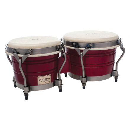 Tycoon Percussion 7 & 8 1/2 Signature Classic Series Bongos - Red Finish