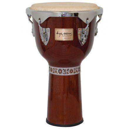 Tycoon Percussion 12 Concerto Series Djembe - Mahogany Finish