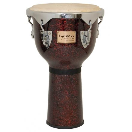 Tycoon Percussion 12 Concerto Series Djembe - Red Pearl Finish