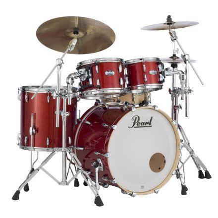 Pearl Masters Maple Complete 4pc Set 22/10/12/16 Vermilion Sparkle