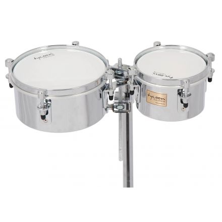Tycoon 6 & 8 Chrome Shell Mini Timbales - Universal Mount Included