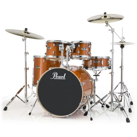 Pearl Export Lacquer 5 Piece Drum Set with Hardware - Honey Amber
