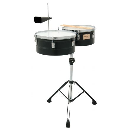 Tycoon Percussion 13 and 14 Black Powder Coated Shell Timbales