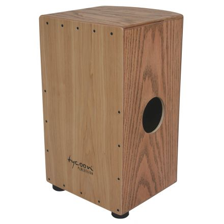 Tycoon 29 Roundback Series American Ash Cajon With Red Oak Front Plate