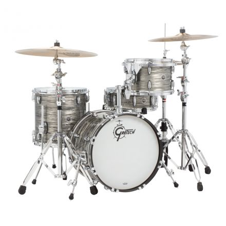 Gretsch Brooklyn 4pc Jazz Drum Set 18/12/14/14 Grey Oyster