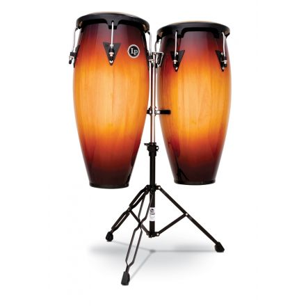 LP Aspire Wood Conga Set with Double Stand