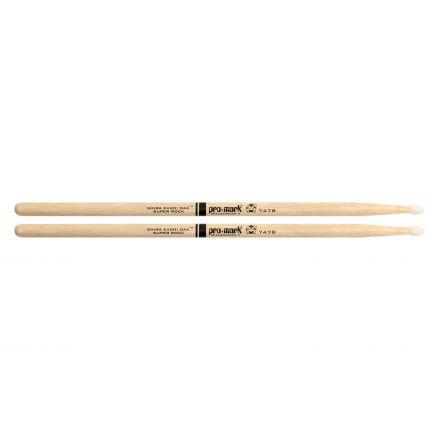 Promark Shira Kashi Oak 747B Super Rock Nylon Tip Drumstick