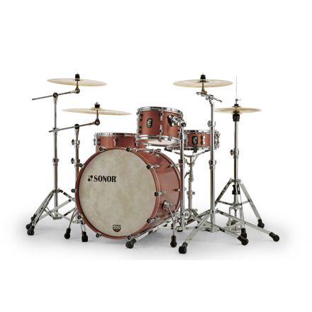 Sonor SQ1 3pc Drum Set 22/12/16 - Satin Copper Brown