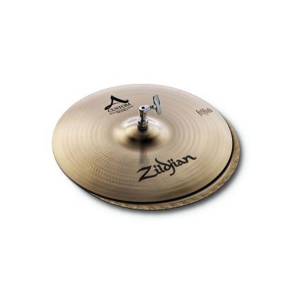 "Zildjian A Custom Mastersound Hi Hat Cymbals Cymbal 15"""