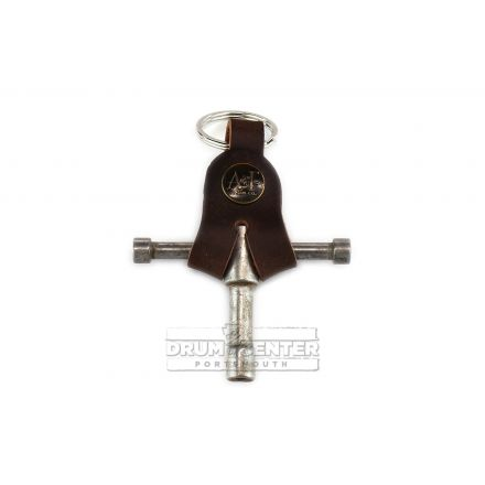 A&F Drum Key Nickel w/Leather Holster