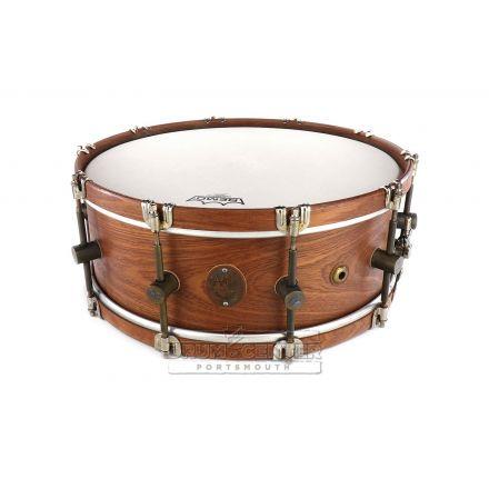 A&F Mahogany Club 16x6.5 Snare Drum w/ Mahogany Hoops
