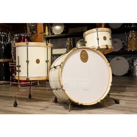 Used A&F Maple Field Kit 3pc Drum Set White w/ Wood Hoops