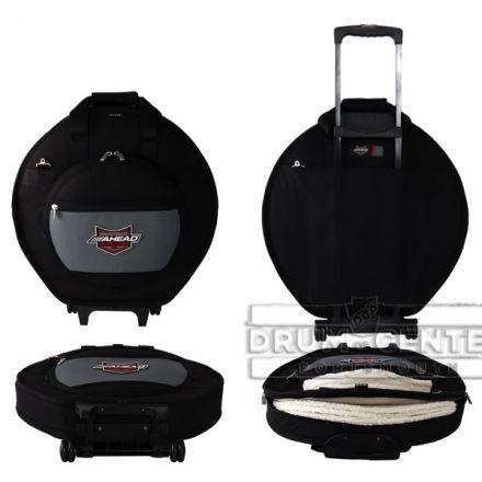 Ahead Armor Cymbal Bag Case 24 Deluxe Heavy Duty w/ Wheels, Handles & Shoulder Strap - AA6024W