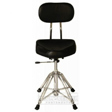 Percussion Plus Hydraulic Drum Throne with Backrest