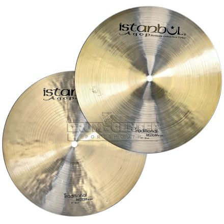 "Istanbul Agop Traditional Medium Hi Hat Cymbals 13"" 795/903 grams"