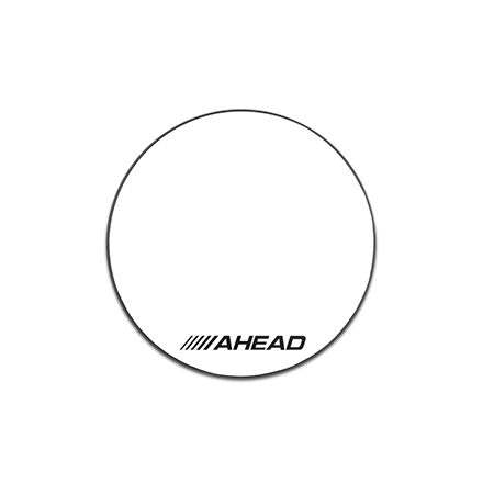 """Ahead Drum Corp Practice Pad with Snare Sound White Hard Surface 10"""""""