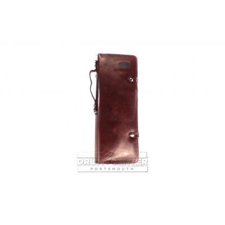Ahead Burgundy Handmade Leather Stick Case