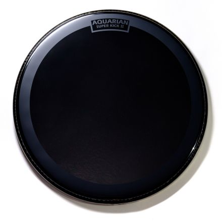 "Aquarian Reflector Bass Drumhead 24"" w/ Superkick Ring"