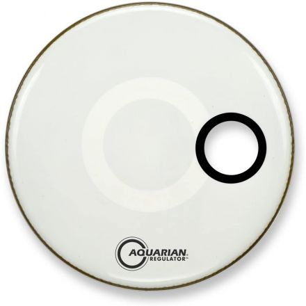 Aquarian Regulator Bass Drumhead 16 White