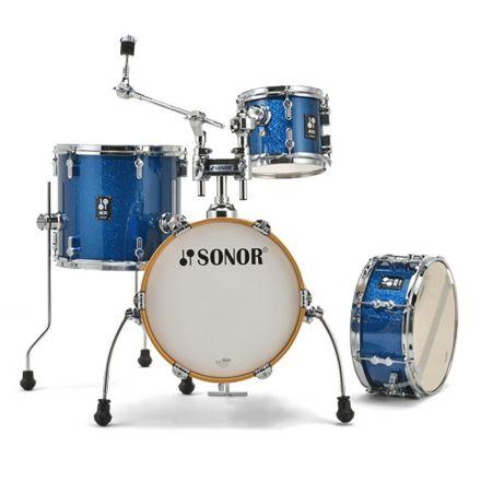 Sonor AQX Micro Drum Set - Blue Ocean Sparkle