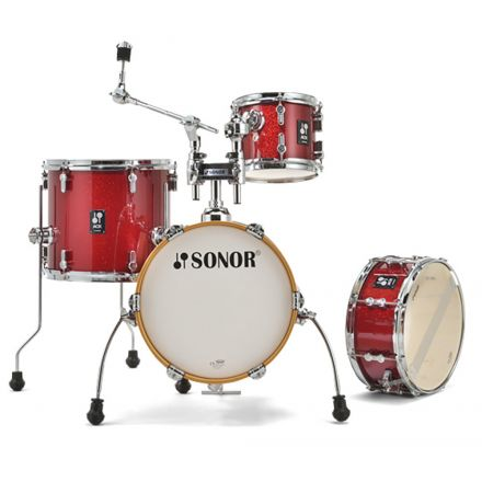 Sonor AQX Micro Drum Set - Red Moon Sparkle