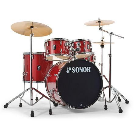 Sonor AQX Stage Drum Set with Hardware - Red Moon Sparkle