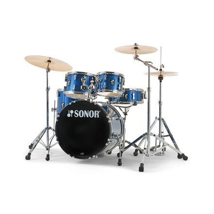Sonor AQX Studio Drum Set with Hardware - Blue Ocean Sparkle