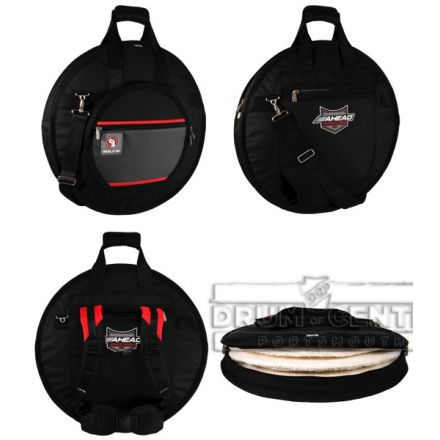 Ahead Armor Cymbal Bag Case 24 Deluxe Heavy Duty w/ Padded Tuck-Away Straps - AR6023RS