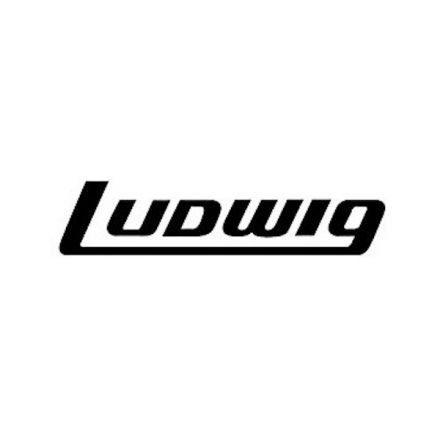 Ludwig Black Bass Drum Logo Sticker - 2.5x5 Inches