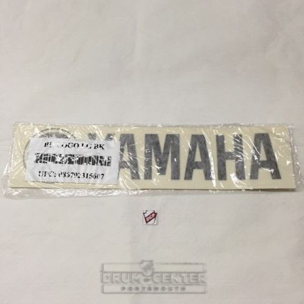 Yamaha Bass Drum Head Logo 2.5x11 Inches - Black